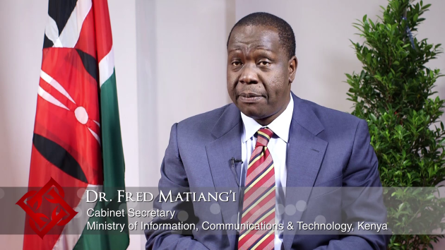 Kenya's ICT Cabinet Secretary Fred Matiang'i on policy priorities & ICT sector investment